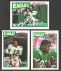 1987 Topps Football Team Set - PHILADELPHIA EAGLES w/ Randall Cunningham RC
