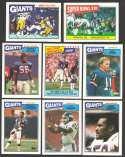 1987 Topps Football Team Set - NEW YORK GIANTS
