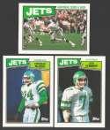 1987 Topps Football Team Set - NEW YORK JETS