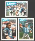 1987 Topps Football Team Set - DETROIT LIONS
