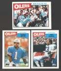 1987 Topps Football Team Set - HOUSTON OILERS