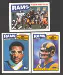 1987 Topps Football Team Set - LOS ANGELES RAMS
