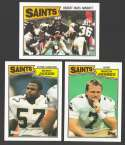 1987 Topps Football Team Set - NEW ORLEANS SAINTS