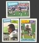 1987 Topps Football Team Set - SEATTLE SEAHAWKS