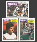 1987 Topps Football Team Set - MINNESOTA VIKINGS