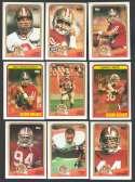 1988 Topps Football Team Set - SAN FRANCISCO 49ERS