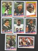 1988 Topps Football Team Set - CHICAGO BEARS