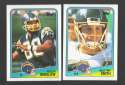 1988 Topps Football Team Set - SAN DIEGO CHARGERS