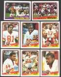 1988 Topps Football Team Set - WASHINGTON REDSKINS