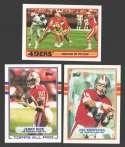 1989 Topps Football Team Set - SAN FRANCISCO 49ERS