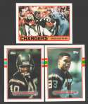 1989 Topps Football Team Set - SAN DIEGO CHARGERS