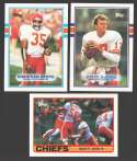 1989 Topps Football Team Set - KANSAS CITY CHIEFS