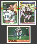 1989 Topps Football Team Set - INDIANAPOLIS COLTS