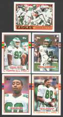 1989 Topps Football Team Set - PHILADELPHIA EAGLES