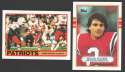 1989 Topps Football Team Set - NEW ENGLAND PATRIOTS