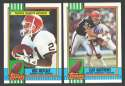 1990 Topps Football Team Set - CLEVELAND BROWNS