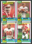 1990 Topps Football Team Set - KANSAS CITY CHIEFS