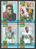 1990 Topps Football Team Set - MIAMI DOLPHINS