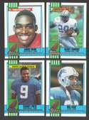 1990 Topps Football Team Set - DETROIT LIONS