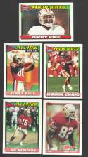 1991 Topps Football Team Set - SAN FRANCISCO 49ERS