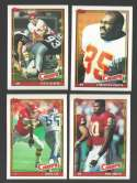 1991 Topps Football Team Set - KANSAS CITY CHIEFS