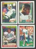 1991 Topps Football Team Set - MIAMI DOLPHINS