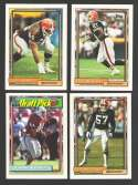 1992 Topps Football Team Set - CLEVELAND BROWNS