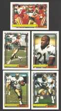 1992 Topps Football Team Set - NEW ORLEANS SAINTS