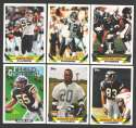 1993 Topps Football Team Set - SAN DIEGO CHARGERS