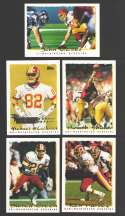 1995 Topps Football Team Set - WASHINGTON REDSKINS