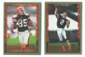 1999 Topps Football Team Set - CLEVELAND BROWNS