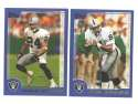 2000 Topps Football Team Set - OAKLAND RAIDERS