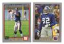 2001 Topps Football Team Set - NEW YORK GIANTS