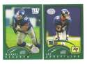 2002 Topps Collection Football Team Set - NEW YORK GIANTS