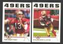 2004 Topps Football Team Set - SAN FRANCISCO 49ERS