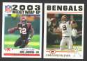 2004 Topps Football Team Set - CINCINNATI BENGALS