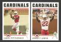 2004 Topps Football Team Set - ARIZONA CARDINALS  w/ Larry Fitzgerald RC