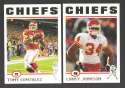 2004 Topps Football Team Set - KANSAS CITY CHIEFS
