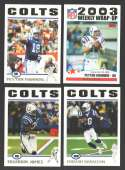 2004 Topps Football Team Set - INDIANAPOLIS COLTS