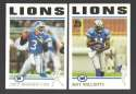 2004 Topps Football Team Set - DETROIT LIONS