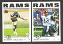 2004 Topps Football Team Set - ST. LOUIS RAMS