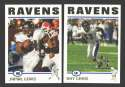 2004 Topps Football Team Set - BALTIMORE RAVENS