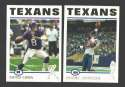 2004 Topps Football Team Set - HOUSTON TEXANS