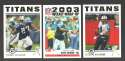 2004 Topps Football Team Set - TENNESSEE TITANS