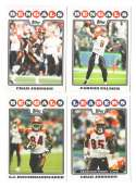 2008 Topps Football Team set - CINCINNATI BENGALS