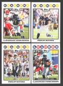 2008 Topps Football Team set - SAN DIEGO CHARGERS