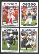 2008 Topps Football Team set - INDIANAPOLIS COLTS