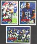 2010 Topps Football Team Set - NEW YORK GIANTS