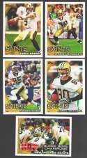 2010 Topps Football Team Set - NEW ORLEANS SAINTS