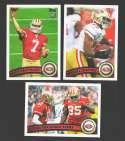 2011 Topps Football Team Set San Francisco 49ers 12 Cards w/ Colin Kaepernick RC